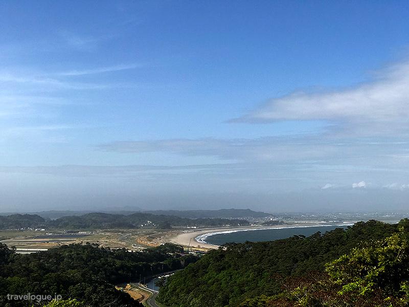 野蒜海岸とか石巻方面の眺め