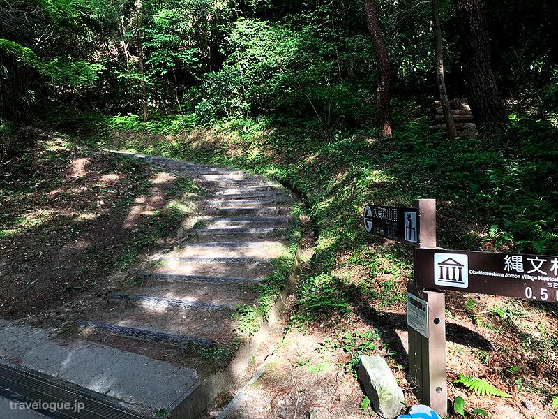 別の登り口からの道と合流する場所には道標がある