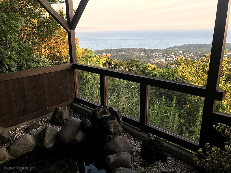 玉響の風の露天風呂からの眺め